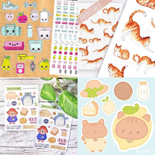 Cute Printable Stickers To Download Super Cute Kawaii