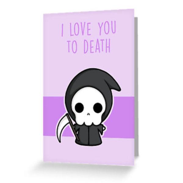 creepy cute valentine card