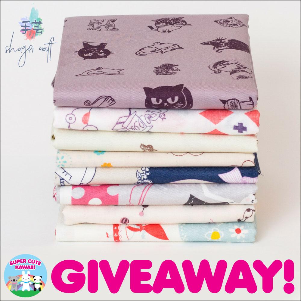Shugei Craft Kawaii Fabric Giveaway