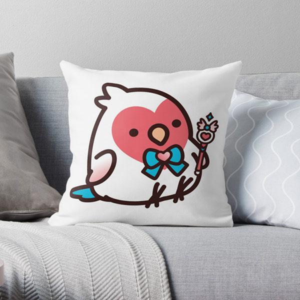 birdhism redbubble kawaii pillow
