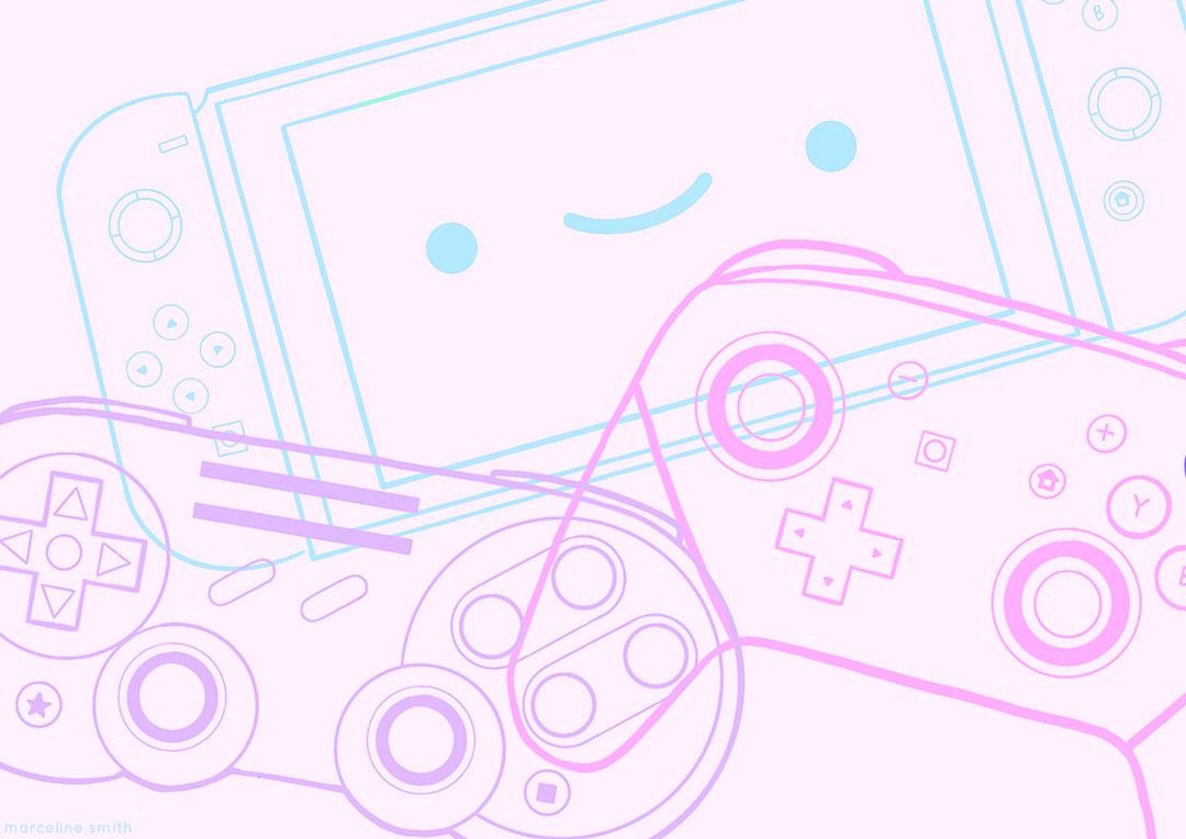 video games illustration - marcelinesmith